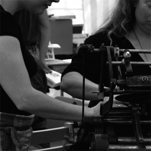 pedalette letterpress