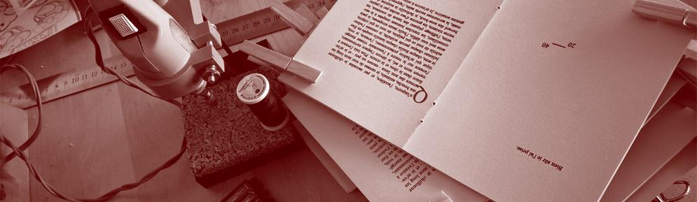 reliure main letterpress
