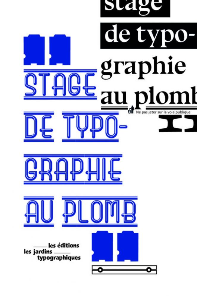 flyer, les jardins typographiques