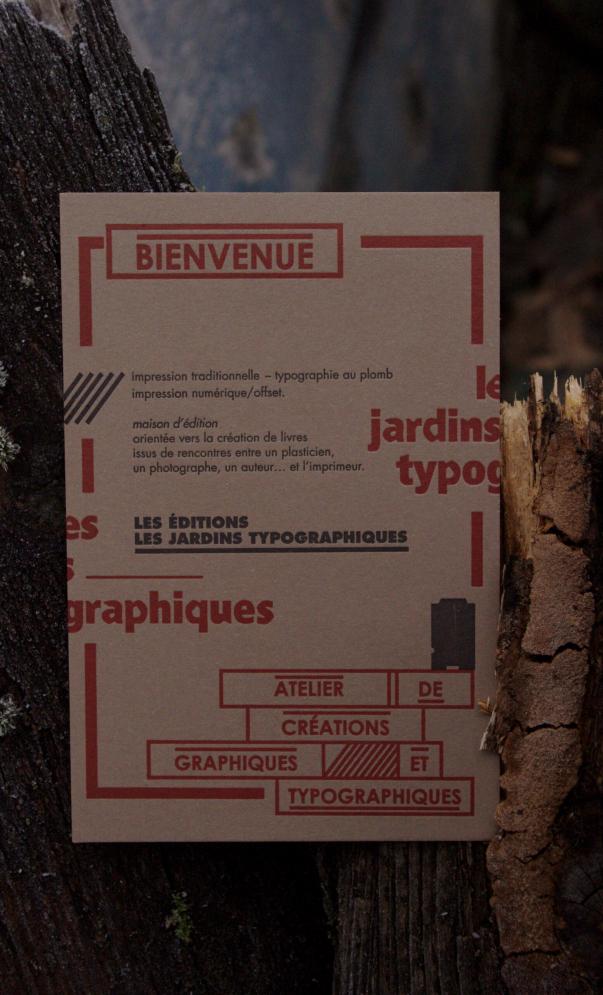 Tract des éditions les jardins typographiques