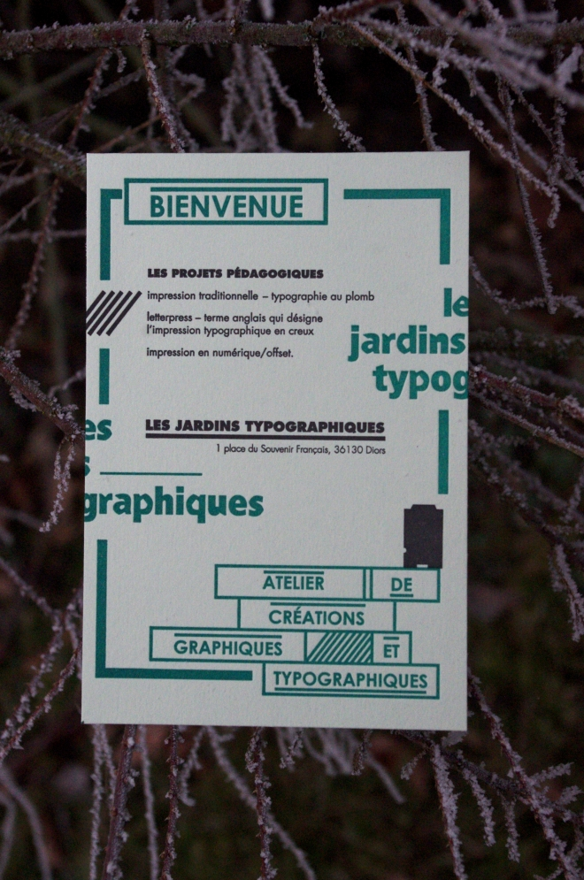 Tract les jardins typographiques